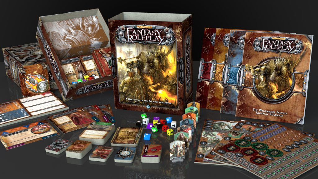 Mehr Inhalt als so manches Brettspiel: Warhammer Fantasy RPG 3rd Grundbox. © Fantasy Flight Games